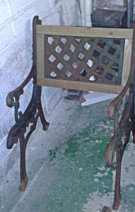 part restored chair
