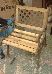 timber & iron chair